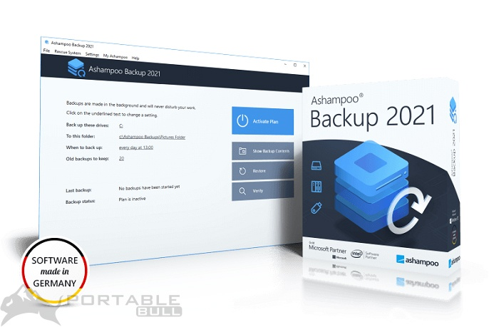 Ashampoo Backup Pro 2021 Portable Free Download [Offline Setup Installer]