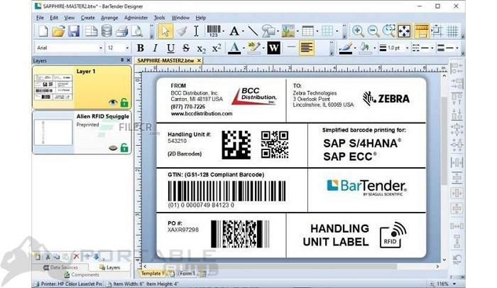 BarTender Designer 2021 R1 Free Download [Offline Setup Installer]