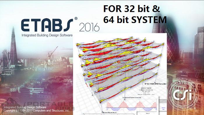 CSI Etabs 2016 Free Download (3264 Bit) Direct Link