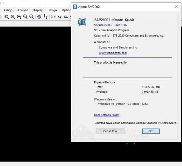 CSI SAP2000 Ultimate 22.0 Free Download (64-bit) [Offline Setup Installer]