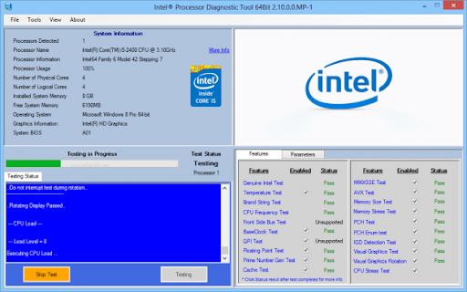 Intel Processor Diagnostic Tool 4.1.5.37 32 64Bit Free Download Updated 2021 offline installer