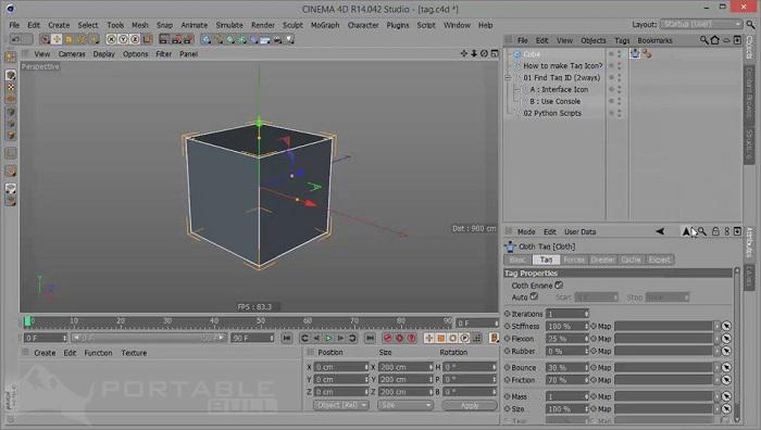 CINEMA 4D Studio R14 Portable Free Download