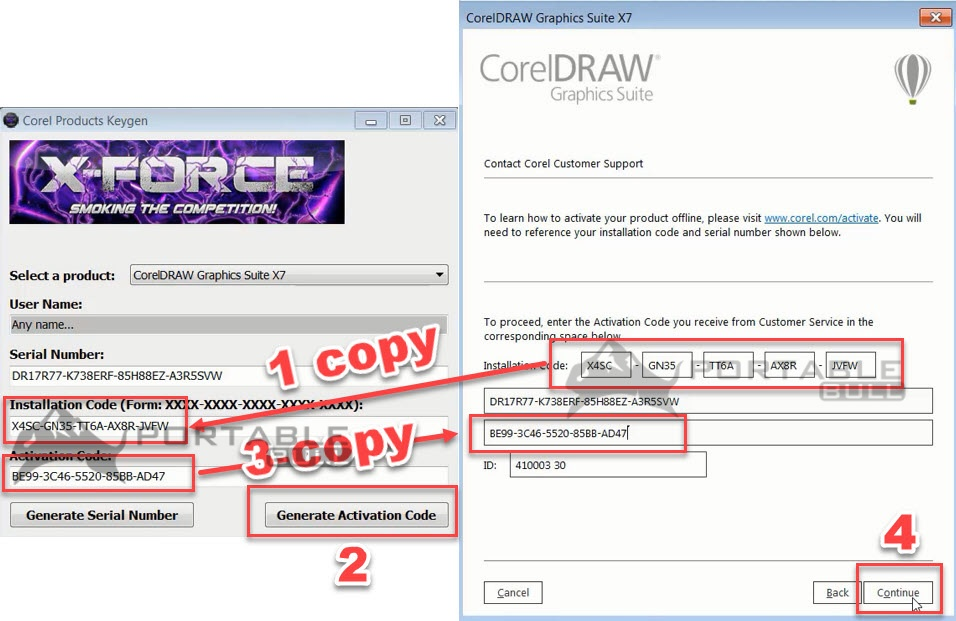 CorelDRAW X7 Installation step 14 - PortableBull com