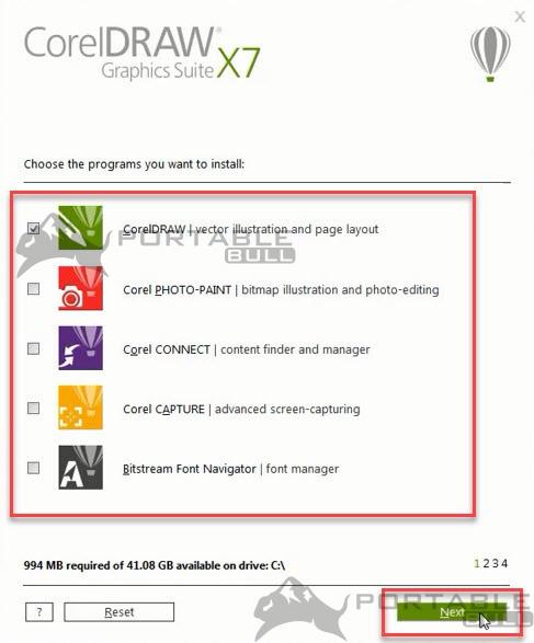CorelDRAW X7 Installation step 4 - PortableBull com