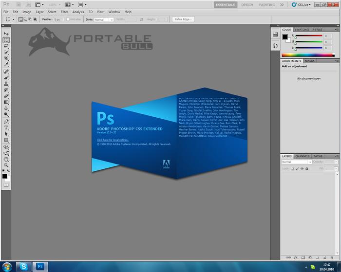 Adobe Photoshop CS5 free trial