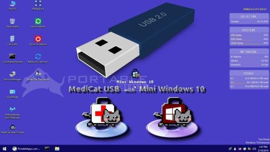 Medicat USB (Mini Windows 10 x64)