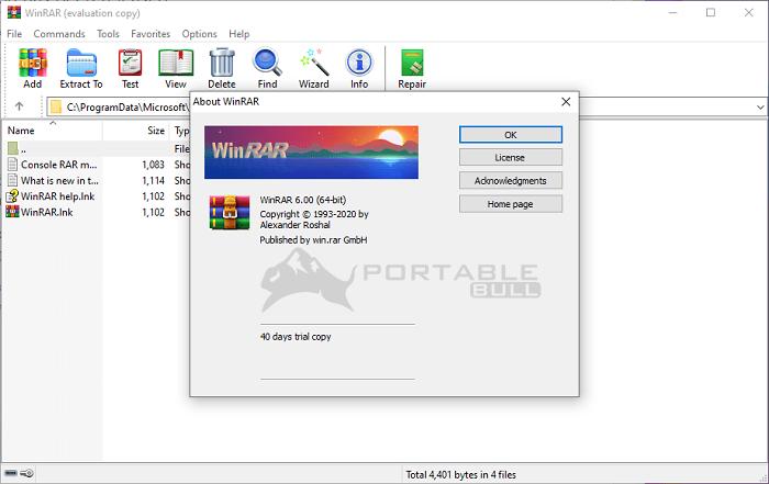 WinRAR 6.0 Portable