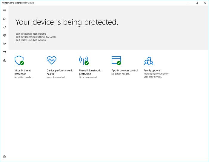 Microsoft Windows 10 Defender