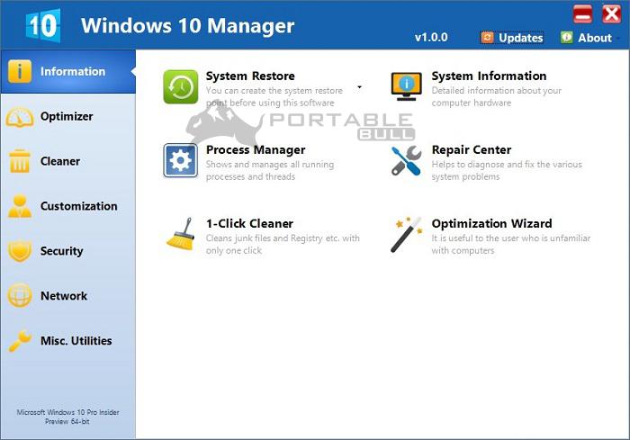 Yamicsoft Windows 10 Manager Portable