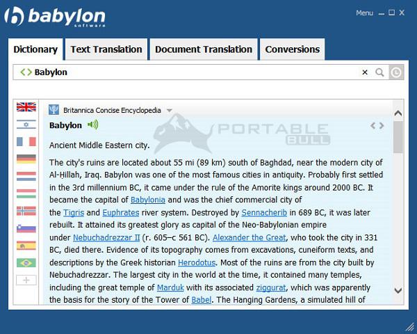 Babylon Translator offline