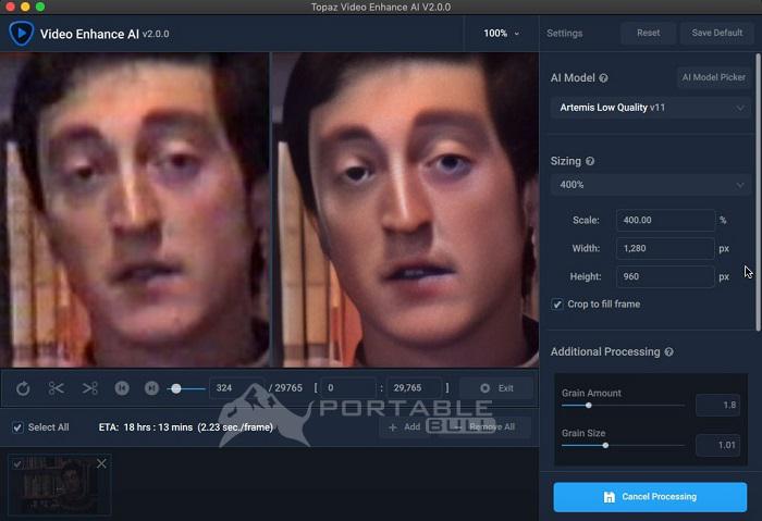 Topaz Video Enhance AI Portable