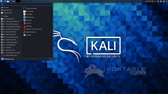 Kali Linux Live 2021